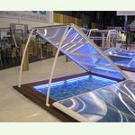 La cubierta de piscina Extra Plana de Abrisud