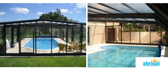 Cubierta alta adosada de abrisudcubiertas para piscinas for Cubierta piscina transitable