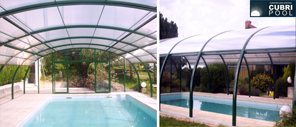 Cubripool apuesta fuerte por el modelo domo de cubiertas for Estructura para piscina