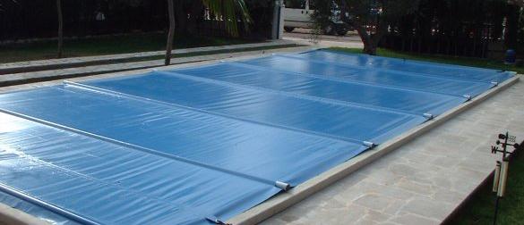 Cobertor de barras en pvc tensado con barras tivanti for Cubierta piscina transitable