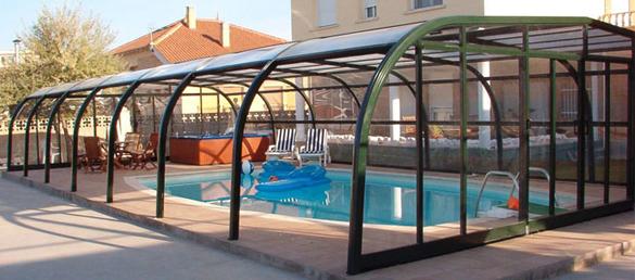 Cubiertas de piscina archery la web de la cubierta de for Fotos de piscinas cubiertas