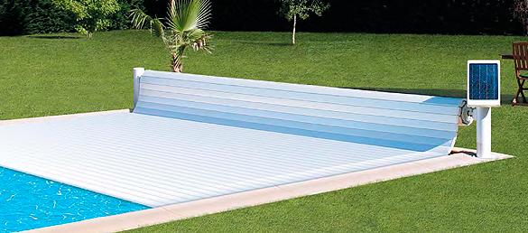 Cubierta solar de seguridad soleio la web de la for Cubiertas de lona para piscinas