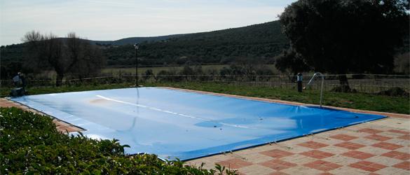 como tapar una piscina en invierno materiales de