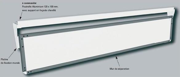 Muro de protección Securiwall, para cubiertas automáticas DEL Piscine