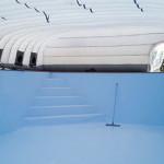 Cubierta hinchable para obras de piscinas